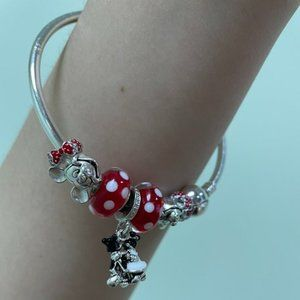 Pandora Bracelet with All the Charms sale